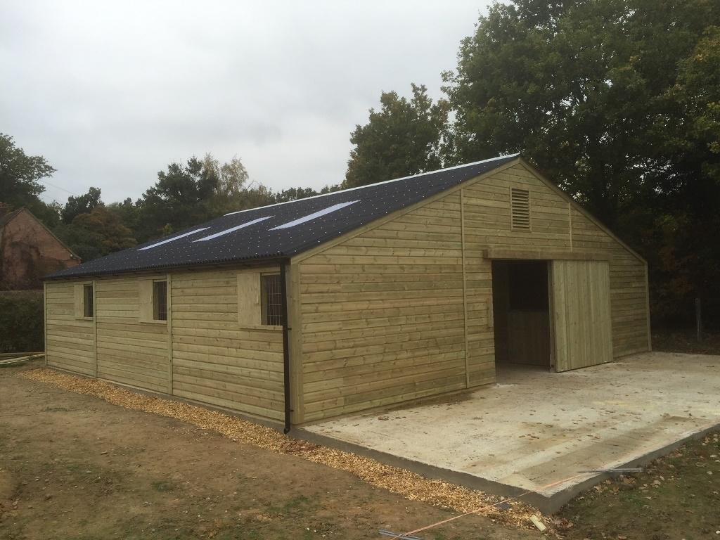 Six Box American Style Barn