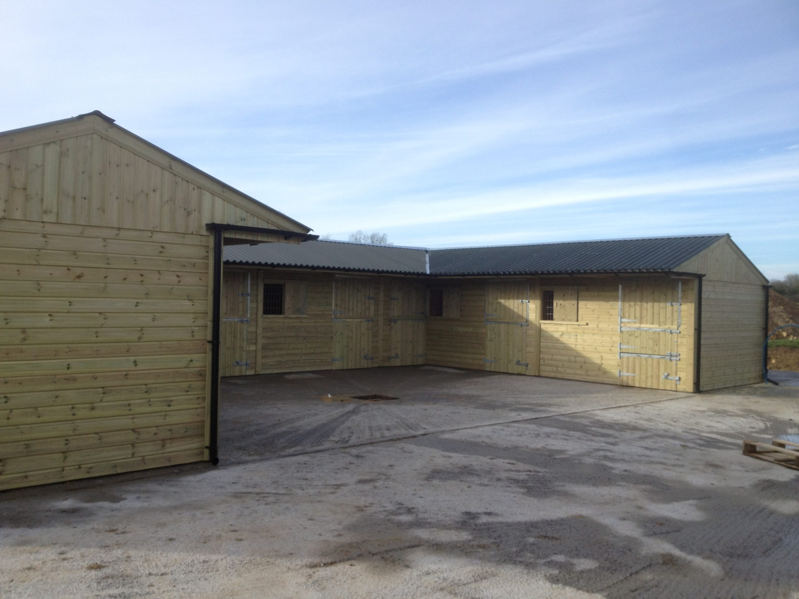 Six Stables & Tack/Store Room with Fibre Cement Roof
