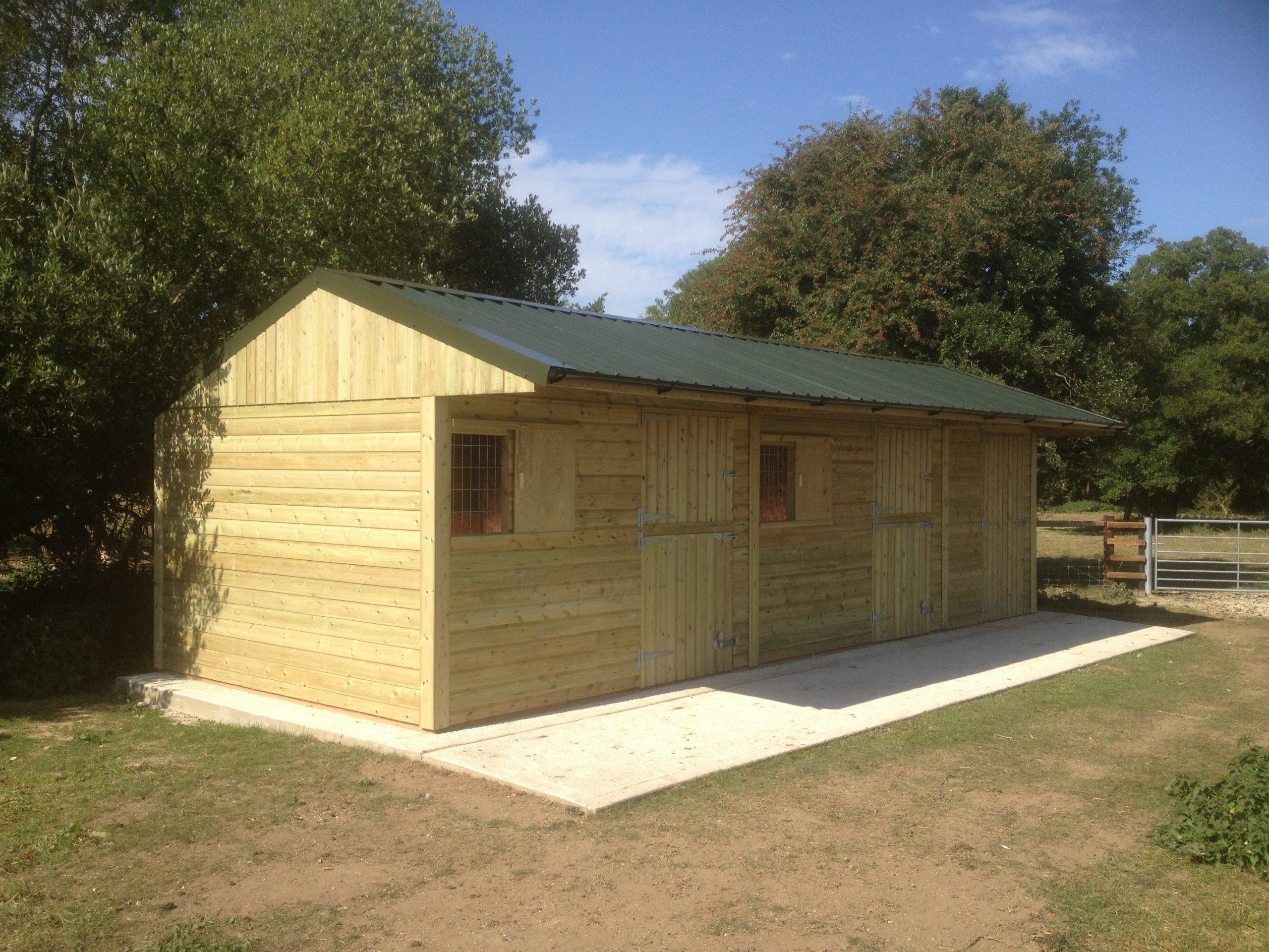 Two Stables & Tack Room with Steel Box Profile Roof