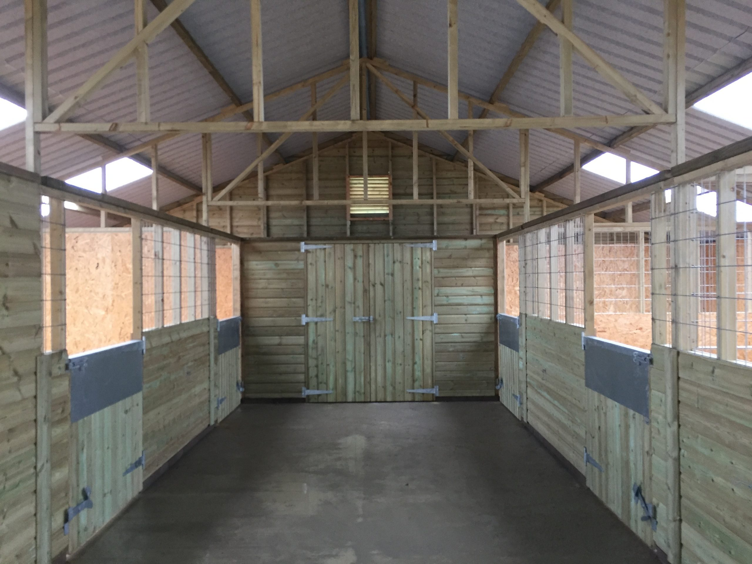 american barn internal view